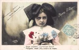 """SERIE DE 5 CPA : """" FLEURS D'ALSACE """" PETITE ALSACIENNE COSTUME COQUELICOT PATRIOTISME GUERRE BABY FANTAISIE KID CHILD - Colecciones, Lotes & Series"""