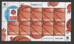 Croatia, MNH, Basketball, European Championship 2015, Sheet 9 Stamps+vignette - Baloncesto