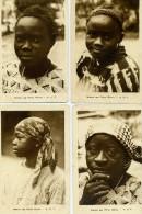 MISSION DES PERES BLANCS A O F - JEUNE FILLE - Le Lot De 4 Cartes - Postcards