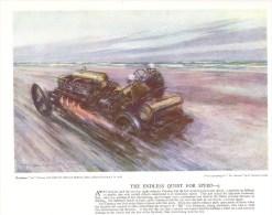 The Endless Quest For Speed 9  -  Saltburn Sands Record 1908  -  Darracq  -  Pilote Guinness  -  Art Print - Grand Prix / F1