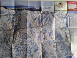 Alt781 Ski Area Map Mappa Piste Sci Impianti Risalita Skilift Cablecar Comprensorio Dolomiti Civetta Sellaronda War Tour - Sport Invernali