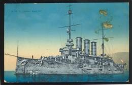 CROATIA POLA AUSTRIA WAR SHIP SHIFFE S.M.S. KAISER KARL VI OLD POSTCARD #36 CENZOR KNIN - Guerra