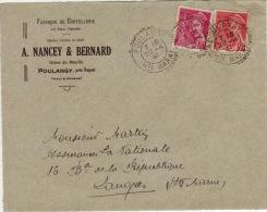 HAUTE MARNE - Poulangy - Devant D´enveloppe - CAD -TypeB2- 1941 - Marcophilie (Lettres)