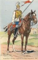 ARMEE RUSSE - RUSSIE - CHEVALIER - GARDE DE S.M. L´IMPERATRICE -1914- ILLUSTR; ROBIQUET - CPA TB - Russia