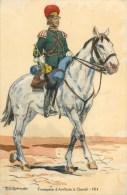 ARMEE RUSSE - RUSSIE - TROMPETTE D'ARTILLERIE à CHEVAL -1914- ILLUSTR; ROBIQUET - CPA TB - Russia
