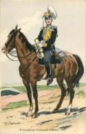 ARMEE RUSSE - RUSSIE - 8° LANCIERS DE VOSNESSENSK - OFFICIER -1914- ILLUSTR; ROBIQUET - CPA TB - Russia