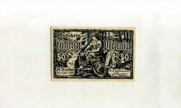 - ALLEMAGNE . ST. BLASTEN . BILLET 50 PF. 1920 - [11] Local Banknote Issues