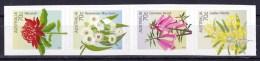 Australia 2014 State Floral Emblems 70c Strip Of 4 Self-adhesives MNH - Ongebruikt