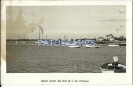 16973 URUGUAY PUNTA DEL ESTE MALDONADO BAHIA VISTA PARCIAL & SHIP SPOTTED POSTAL POSTCARD - Argentinien