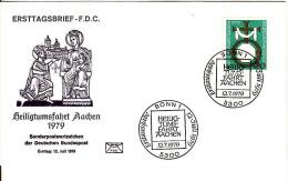 Deutschland-Ersttagbrief, FDC 12.7.1979,Mi 1017, Heiligtumsfahrt Aachen 1979,kreuz Mit Zeichen Karls Des Grossen - BRD