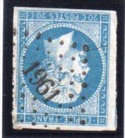 """FRANCE : PC 1961. """" MENNETOU SUR CHER"""" . (05) . N° 14 . TB . SIGNE . - Marcophilie (Timbres Détachés)"""
