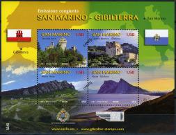 2010 - SAINT-MARIN - SAN MARINO - GIBR ALTAR - EMISS. CONG. GIBILTERRA SAN MARINO - MNH - (**) -  MINI SHEET) - Blocchi & Foglietti