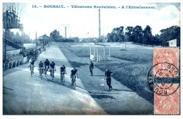19213  France Roubaix 1908  Yelodrome Roubaisien  A L'entrainement Race Cycling Training Postmarked Gano  Roubaix - Cycling