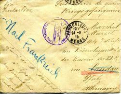 N°43827 -lettre Adressée à Un Prisonnier En Allemagne-Landau Ebenbergè - Marcophilie (Lettres)