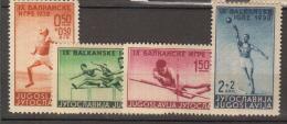 YOUGOSLAVIE.     1938                   N°     326 / 329      COTE     15 € 00           ( Y 360 ) - 1931-1941 Royaume De Yougoslavie