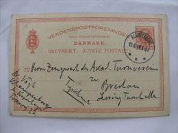 Carte Postale Brevkort Denmark Danmark Klampenborg 1914 - Briefmarken