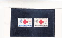 Red Cross Centenary, Ascension. 1863-1963 Lieve Traccia Di Linquella - Ascensione
