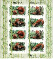 BHUTAN- 2009 RED PANDA - Roter Panda-Panda Rouge- Panda Rojo-Ailurus Fulgens - Bhutan