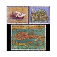 Vatican 1972 UNESCO Campaign To Save Venice Place Organizations Ships Stamps MNH SC 518-519 520 Ad Block Michel 599-604 - UNESCO