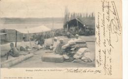 BELGIAN CONGO 1894/1900 ISSUE PC FROM MATADI 07.10.1902 TO ANTWERPEN TRANSIT LISBOA - Belgisch-Kongo
