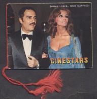 7388-CALENDARIETTO DEL 1978 - CINESTARS - ATTRICI ATTORI FAMOSE-SOFIA LOREN-NINO MANFREDI-EDVIGE FENECH - CINEMA - Calendari