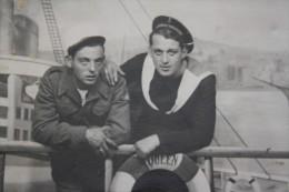 RARE MARS 1947  VINTAGE ANCIENNE PHOTO LEGION LEGIONNAIRE MARIN MARINE QUEEN MARY ARCHIVES DE MARSEILLE PHOTOGRAPHIE - War, Military