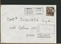 ITALIA - GIORNATA DELL'ALBERO DEL LEGNO E DELLA VITA DELL'UOMO - Su Raccomandata Da Napoli - Alberi