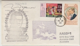 British Antarctic Territory 1995 Halley Cover Ca Shackleton Si Ca Fe 28 95 (24800) - Brits Antarctisch Territorium  (BAT)