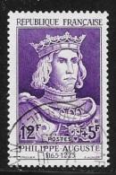 N° 1027  FRANCE  -  OBLITERE  -  PHILIPPE AUGUSTE  -  1955 - Usados