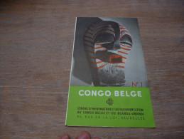 CB7 Brochure Bruxelles Expo 58 Pavillon Congo Belge - Culture