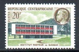 CENTRAFRICAINE. N°13 De 1961. Institut Pasteur. - Louis Pasteur