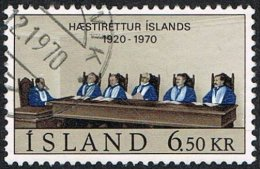 Iceland SG469 1970 50th Anniversary Of Icelandic Supreme Court 6k.50 Good/fine Used - Used Stamps