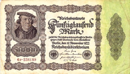 Billet De Banque 50 000 Marks - 19 Novembre 1922 - N° 6P236189 - [ 2] 1871-1918 : Imperio Alemán