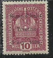 TRENTINO ALTO ADIGE 1918 SOPRASTAMPATO SURCHARGED HELLER 10 H MLH - 8. Occupazione 1a Guerra