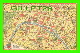 CARTES GÉOGRAPHIQUES - PARIS 20e ARRONDISSEMENT - PUBLICITÉ DE LA SOCIÉTÉ GÉNÉRALE FRANÇAISE - - Cartes Géographiques