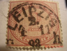 GERMANY, SCOTT#36, 2m ROSE LILAC, USED - Oblitérés