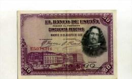 - ESPAGNE 1928 . BILLET 50 P. 1928 . - [ 1] …-1931 : First Banknotes (Banco De España)
