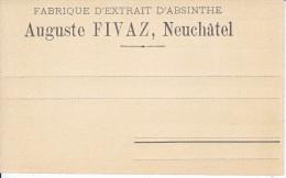 CARTE REPONSE - FABRIQUE D'ABSINTHE - AUG FIVAZ - NEUCHATEL - NON CIRC - TTB - 1882-1906 Coat Of Arms, Standing Helvetia & UPU