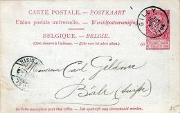 Belgien 1904 - 10 C Ganzsache Auf Pk V.Gilly N. Bäle - 1893-1907 Wappen