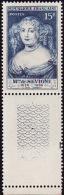 FRANCE  1950 -  Y&T  874  -  Mme De  Sevigné  - NEUF**  Bas De Feuille - France