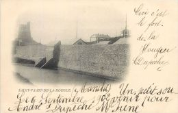 50 SAINT VAAST LA HOUGUE  AUTRE VUE DU PORT FORTIFICATIONS  CARTE PIONNIERE 1902 - Saint Vaast La Hougue