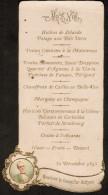 Oude Menukaart 1895 Monsieur Le Conseiller Beltjens - Menus