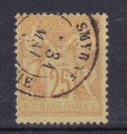 SAGE N° 92 OBL CACHET SMYRNE - 1876-1898 Sage (Tipo II)