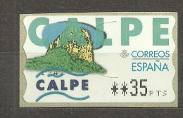 SPAIN, ESPAÑA ATM CALPE 35 Ptas. NUEVA PERFECTA. MNH***. - 1931-Hoy: 2ª República - ... Juan Carlos I