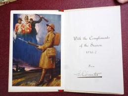 CARTE DE VOEUX A VOLET SOLDAT ANGLAIS ENGLISH SOLDIER SEBASTOPOL MORO ALMA BADAJOZ SALAMANCA NAPOLEON LEGIONNAIRE GUERRE - War 1914-18