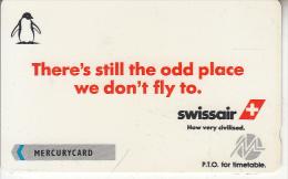 UK - Swissair(PYPR016), CN : 1PSWA, Tirage 1000, Mint - Vliegtuigen