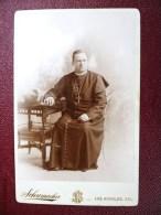 PHOTOGRAPHY XIXeme CHURCH OF LOS ANGELES CURE PRIEST RELIGON PRETRE CHANOINE SCHUMACHER - Photographs