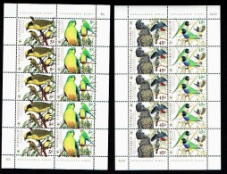 AUSTRALIE AUSTRALIA 1998, WWF, OISEAUX, 4 Valeurs En 2 Feuillets De 5 Séries, Neufs / Mint. R945 - 1990-99 Elizabeth II