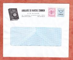 Brief, Annuaire Du Marche Commun, MiF Heraldischer Loewe Mit Vorausentwertung 1966 (25366) - Belgien