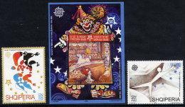 ALBANIA 2005 50th Anniversary Of Europa Stamps  2 Stamps + Block MNH / **.  Michel 3045-46, Block 157 - Albania